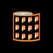 Etiquetas en bobina de 3 x 2 cm.